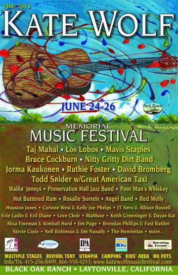 Kate Wolf Music Festival Poster
